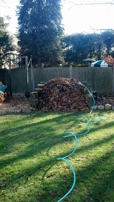 My pile burns through the water in its midst, even on a cold December day. Time to water it before the winter freeze sets in.