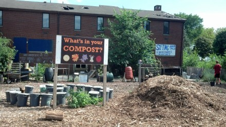 The community compost operations on Governor's Island in New York Harbor.