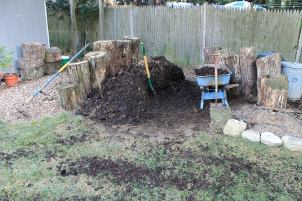 My pile yields a prodigious amount of compost to spread wholesale across the lawn and garden beds.